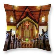 Woodstown Church Throw Pillow