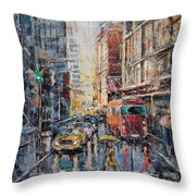 Workday II Throw Pillow