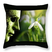 Working In Harmony Wth Nature Concept Throw Pillow