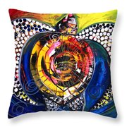 World Turtle Seven Throw Pillow
