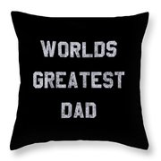 Worlds Greatest Dad Vintage Throw Pillow