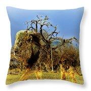 Wrapped Lion Throw Pillow