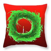 Wreath2 Throw Pillow