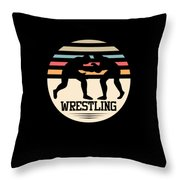 Wrestling Art Throw Pillow