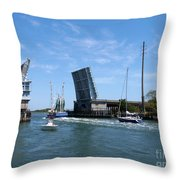 Wrightsville Beach Bridge In North Carolina Throw Pillow