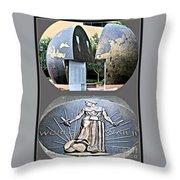 World War 2 Memorial Savannah Throw Pillow