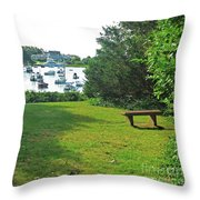 Wychmere Harbor Cape Cod Morning Throw Pillow