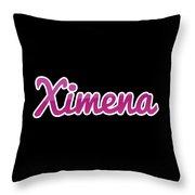 Ximena #ximena Throw Pillow