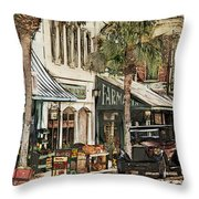 Ybor City Movie Set Throw Pillow