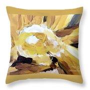 Yellow #4 Throw Pillow