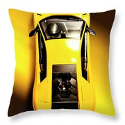Yellow And Black Throw Pillow