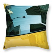 Yellow Cab, Big Apple Throw Pillow