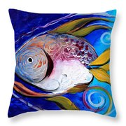 Yellow Fin Integral Throw Pillow