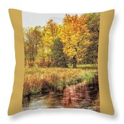Yellow Forest Throw Pillow