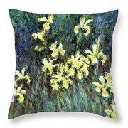 Yellow Irises - Digital Remastered Edition Throw Pillow