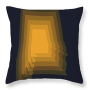 Yellow Map Of Alabama Throw Pillow