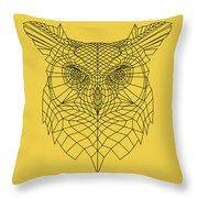 Yellow Owl Throw Pillow