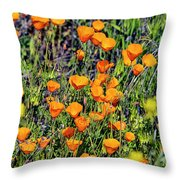 Yellow Poppies Of California Throw Pillow