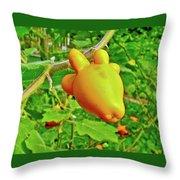 Yellow Tomato In The Amazon Jungle, Peru Throw Pillow