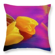 Yellow Tulips 2 Throw Pillow