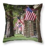 Yellowstone Flags Throw Pillow