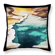 Yellowstone Hot Springs Triptych Throw Pillow