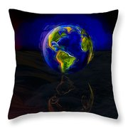 Yesterday, Today And Tomorrow Throw Pillow by Paul Wear