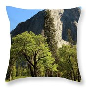 Yosemite Valley Serenity Throw Pillow