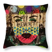 You Broke My Heart In Barcelona  Throw Pillow