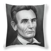 Young Lincoln Lawyer Throw Pillow