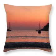 Z For Zihuatanejo Throw Pillow