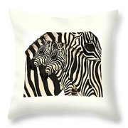 Z Is For Zebras Throw Pillow