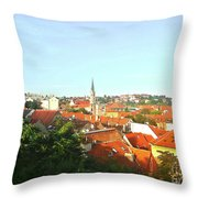 Zagreb Roofs Ne Throw Pillow