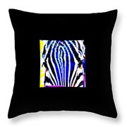 Zany Zebra II Throw Pillow