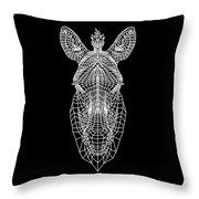 Zebra Mesh Throw Pillow