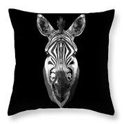 Zebra's Face Throw Pillow