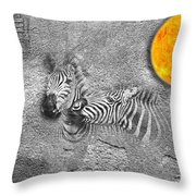 Zebras No 02 Throw Pillow
