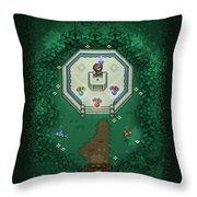 Zelda Mastersword Throw Pillow