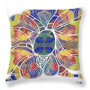 Zen Flower Abstract Meditation Digital Mixed Media Art By Omaste Witkowski Throw Pillow by Omaste Witkowski