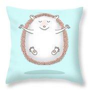 Zen Hedgehog Meditating Throw Pillow