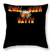 Zwei Bier Bitte Cool German Oktoberfest Beer Festival Design For Beer Lovers And Beer Drinkers Throw Pillow