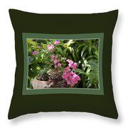 Crescent Light On Tropicals Throw Pillow