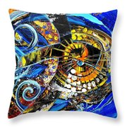 Crossover Fish Throw Pillow