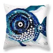 Enter The Icehole Fish Throw Pillow