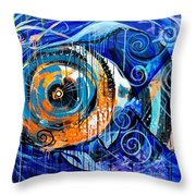 Fire Belly Shadow Throw Pillow