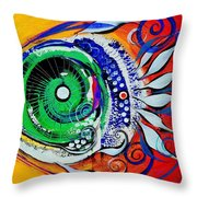 Happy Fish Compliments Transcending Time Throw Pillow