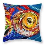 San Antonio Fish Throw Pillow
