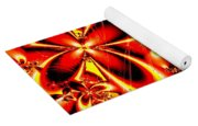 Flaming Red Flowers Yoga Mat
