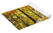 Rainy Autumn Beauty Original Palette Knife Painting Yoga Mat