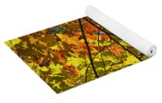 Autumn Maple Leaves Yoga Mat